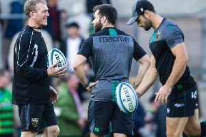Saints attack coach Sam Vesty (left) is enjoying the chance Chris Boyd has given him