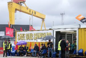 Harland & Wolff workers occupied the site urging the government to act
