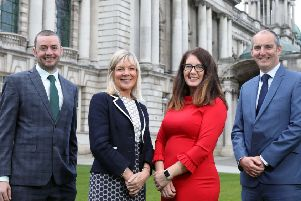 L-R John Ferris, Entrepreneur Development Manager, Ulster Bank; Suzanne Wylie, Chief Executive, Belfast City Council; Claudine Owens, Portfolio Manager, Clarendon Fund Managers and Shane O'Hanlon, InterTrade Ireland