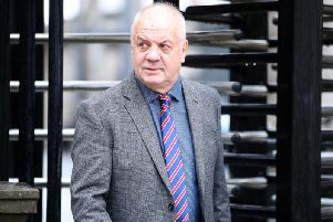 Victims campaigner Raymond McCord at the High Court in Belfast. (Photo: Presseye)