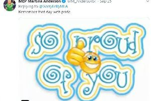 Martina Anderson's tweet about the Maze Prison escape