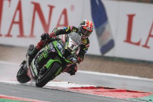 Jonathan Rea headed the times in FP2 on his Kawasaki but finished seventh fastest overall on Friday at Magny-Cours in France.