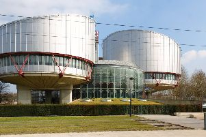 """The European Court of Human Rights at Strasbourg, which refused to redesignate the treatment of the hooded men as torture. Sir Donnell Deeny said the NI appeal court ruling making such a designation 48 years after the treatent of the men contradicted """"the court with the ultimate responsibility for the vindication of the European Convention of Human Rights"""""""
