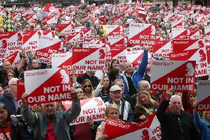 Thousands of people took part in a  March For Life in Belfast city centre on September 7. Picture Bill Smyth