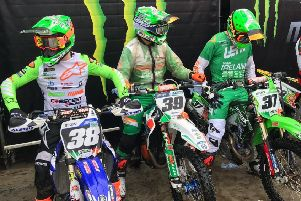 Team Ireland riders who finished 18th at the MXoN in the Netherlands - Martin Barr, Stuart Edmonds and Jason Meara