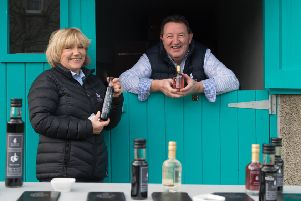 Burren Balsamics with Susie Hamilton and chef Bob McDonald at their facility in County Armagh.Photo: Barry Cronin