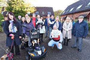 Residents of St Michael's Gate and nearby estates protest against the evictions