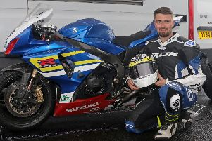 Carl Phillips with the 11-year-old Suzuki GSX-R1000 K9 on which he clinched the Ulster Superbike title.