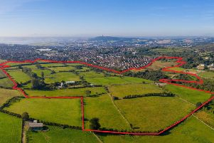 An aerial view of the land earmarked for the Beverley Garden Village residential development in Newtownards, Co Down