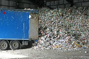 Recycling is collected every two weeks and transported to the facility in Ford