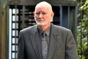 Former police photographer William McConnell outside Newry Court. Pic: Pacemaker Press
