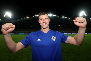 UEFA Euro 2020 Qualifing Round Group C, Borisov Arena, Borisov, Belarus 11/6/2019'Belarus vs Northern Ireland'Northern Ireland's Paddy McNair celebrates winning'Mandatory Credit �INPHO/Presseye/William Cherry