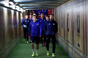 Northern Ireland players walk through the tunnel during Wednesday's training session at Stadium Feijenoord ahead of Thursday's UEFA Euro 2020 qualifier against Netherlands in Rotterdam. Pic by PressEye Ltd.