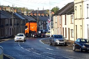 The scene of the incident in the Circular Road area of Larne.