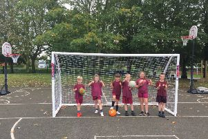Pupils at Kelsey Primary School are giving the thumbs up to their new sports equipment EMN-190610-135831001