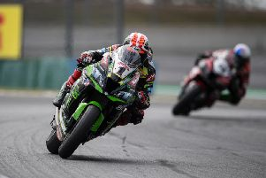 Jonathan Rea was second fastest on his Kawasaki on the opening day of free practice at the San Juan Villcum circuit in Argentina on Friday.