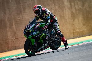 Jonathan Rea finished as the runner-up on his Kawasaki in the opening race at the San Juan circuit in Argentina on Saturday.