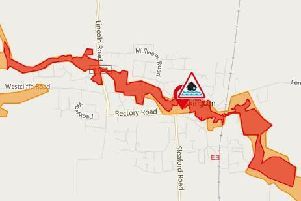 A flood warning has been issued by the Environment Agency for the Ruskington Beck.