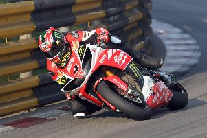 Ian Hutchinson won the Macau Grand Prix in 2013 on the Milwuakee Yamaha.