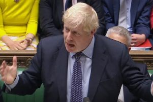 Prime Minister Boris Johnson speaks in the House of Commons, London, after MPs accepted the Letwin amendment, which seeks to avoid a no-deal Brexit on October 31.