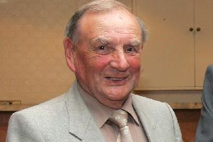 Isaac Gilkinson during his time as Mid-Ulster Football League chairman.