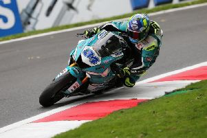 Alastair Seeley sustained a wrist injury following a crash at Oulton Park in the British Supersport Championship.