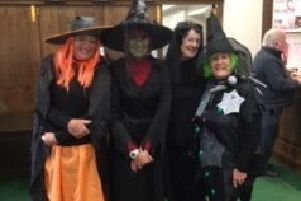 Halloween winners Helen Gibbard, Sheilah Mitchell, Jane Salt and Helen Grinham EMN-191028-092056002