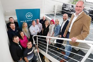 Labs managing director John Wallace and staff