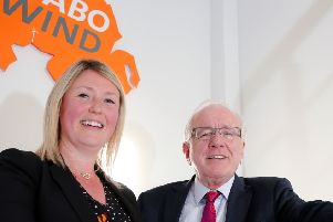 Tamasin Fraser, Director of ABO Wind NI discusses the future plans of this Lisburn based business with Alderman Allan Ewart MBE, Chairman of the council's Development Committee.