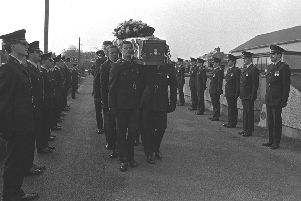 The funeral of an RUC officer in 1988