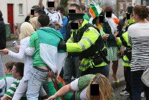 Much of south Belfast  such as the Holyland, seen above on St Patrick's Day, is a growing student housing village