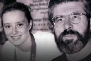 Mairia Cahill, pictured with Gerry Adams, has raised questions after police affirmed the 2015 report which said the IRA still oversees Sinn Fein strategy