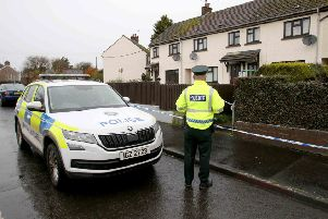 PSNI at the scene early of an incident in the Ballymoney area early on Saturday morning.  Photo: Steven McAuley/McAuley Multimedia