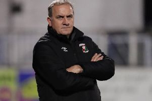 Glentoran assistant manager Paul Millar.