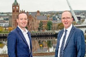 Pictured (L-R) are John Noone, co-founder and director, Joule Group and Des Gartland, North West Regional Office Manager, Invest NI.