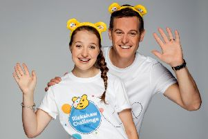 The One Show's Matt Baker promotes the Rickshaw Challenge with Emma (18), from Nottingham, one of the six youngsters also taking part in the fundraiser for Children In Need EMN-191211-151858001