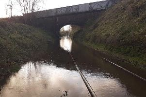 Flooded train line between Ballymoney and Coleraine