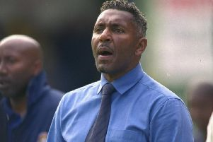Ricky Hill during his time as Luton Town manager