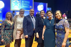 Staff pictured at the awards on November 13.