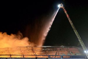 Firefighters battled into the night to bring the blaze under control. (Photo: McAuley Multimedia)