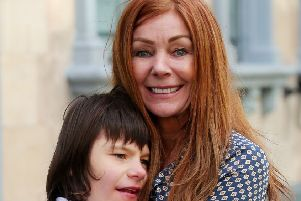 Charlotte Caldwell with son Billy