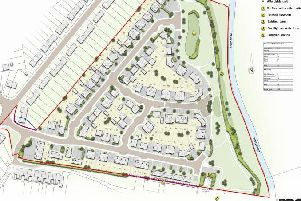 The plan of the Nicholas Road site