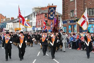 The annual Battle of the Somme parade passes along the Albertbridge Road every July 1. Picture: Kelvin Boyes / Press Eye