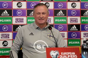 Northern Ireland manager Michael O'Neill. Pic by Pacemaker