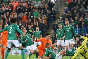 Northern Ireland and Holland finished 0-0 in Belfast on Saturday. Pic by PressEye Ltd.