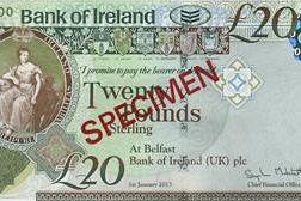 Bank of Ireland 20 posted on PSNI Facebook