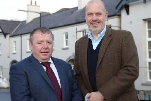 Michael Johnston, (left) operational director, Fresh Food Centres and John Hood, director of Food & Tourism, Invest NI.