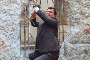"John Cushnahan, then an MEP who prior to that had been the leader of the Alliance Party, at the Berlin Wall in 1989, not long after he was elected to Strasbourg. ""I expressed my solidarity with the people of Germany and joined those who demolished the wall and consigned all that it represented to the dustbin of history"""