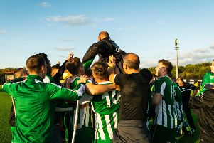 Chi City celebrate at Bowers and Pitsea after a win which got them into the first round / Picture by Daniel Harker