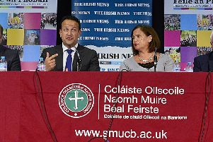 Leo Varadkar, above at this year's Belfast Festival, fears unionists would not participate in a citizens' assembly on Irish unity. He needn't worry ' plenty of people describing themselves as unionist will give nationalists the cover they require to describe their deliberations as 'inclusive'